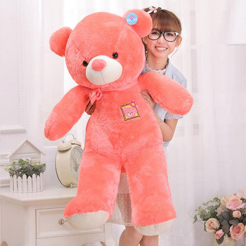 100cm Kawaii Soft Animal Bear Stuffed Teddy Bear Toys Stuffed Plush Doll Giant Lovely Bear Tie Bear Plush Teddy Doll Brinquedos free shipping 12v 40ah lithium battery ion pack rechargeable for laptop power bank 12v ups cell electric bike 3a charger
