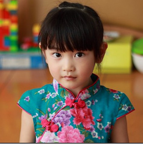 2016 female child cotton cheongsam baby girl summer qipao