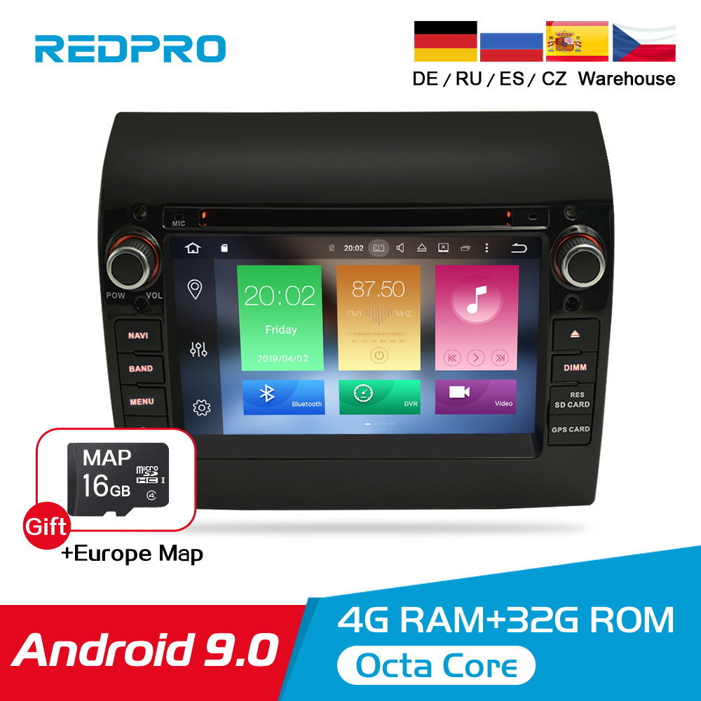 """8 Core 7"""" IPS Android 9.0 Car Stereo For Fiat Ducato CITROEN Jumper PEUGEOT Boxer DVD Player GPS Navigation Wifi FM Multimedia-in Car Multimedia Player from Automobiles & Motorcycles"""