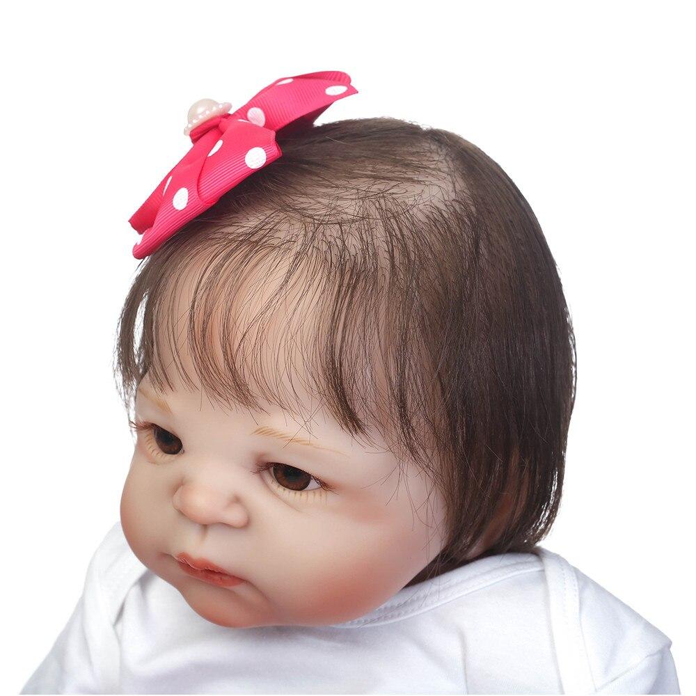 23 pouces Full silicone reborn bébé poupées Jouet Bébé-Reborn réaliste lol d'origine vinyle nouveau-né se baigner princesse bébé Brinquedos jouet - 6