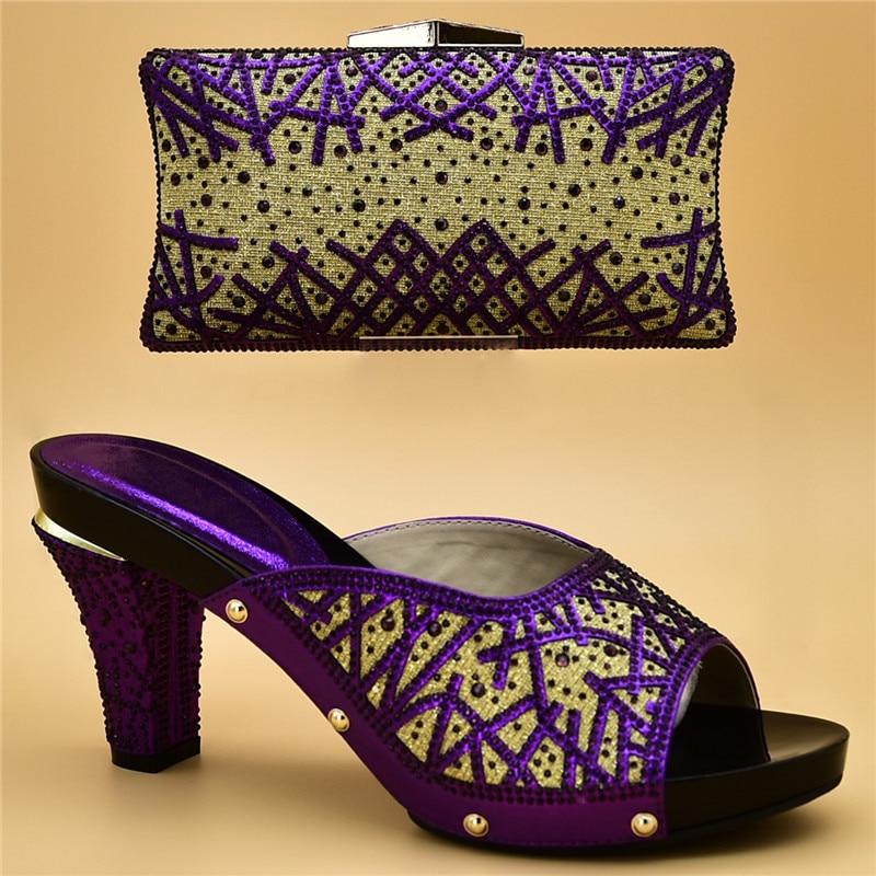 azul oro Para Del Llegada Bolsas Y Conjunto Verano Bolso Zapatos 2018 rojo Boda púrpura Establece Sistemas Mujeres Nueva Alto plata Nigeriano De Las Negro África verde Tacón C1qwBn7X