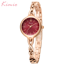 цены KIMIO Famous Womens Watches Top Brand Golden Rose Quartz Watch Women Fashion Lady Wristwatches Woman Watch Elegant Dress Clock