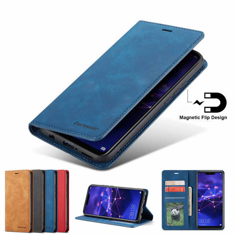 Phone Cases For Huawei Mate 20 Lite Pro Case Cover Luxury Magnetic Flip Plain Wallet Kickstand Leather bag Mate20 Lite Pro Coque