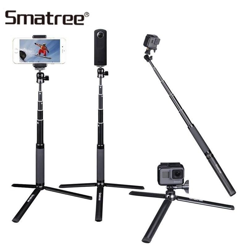 Smatree สำหรับ DJI Osmo กล้อง Telescoping Handheld Monopod Selfie Stick สำหรับ GoPro Hero 7/6/5/ เซสชั่นขาตั้งกล้อง SQ2-ใน เคสกล้องบันทึกภาพกีฬา จาก อุปกรณ์อิเล็กทรอนิกส์ บน AliExpress - 11.11_สิบเอ็ด สิบเอ็ดวันคนโสด 1