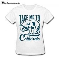 Vrouwen T-shirts Toevallige Korte Mouwen 100% Katoen Ijsbeer Afbeelding T-shirt Merk Kleding Tee Top Voor Lady WTD008