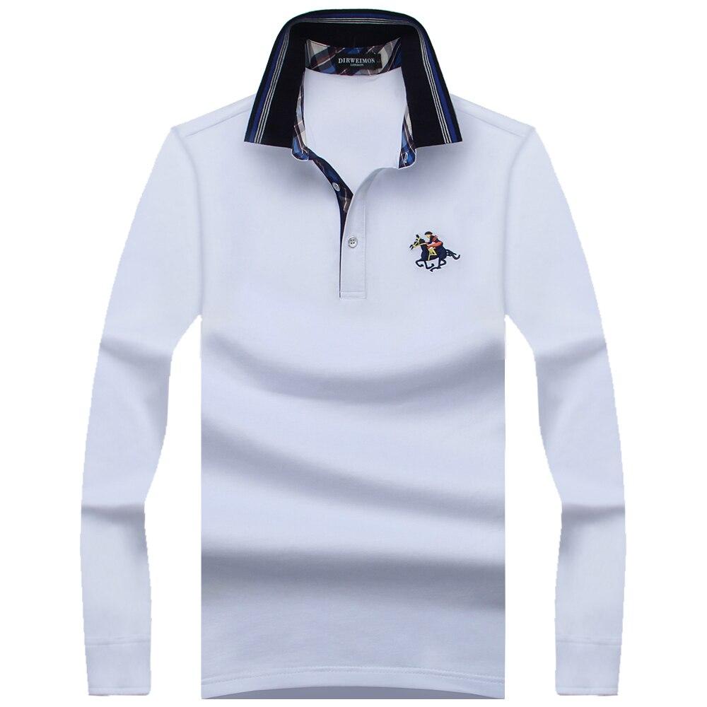 946a6f2445 2018 nuevas camisetas de Polo de moda para hombre de manga larga de primavera  ajustada para hombre marcas Camisa Polo Masculina talla grande 7XL 8XL 9XL  en ...