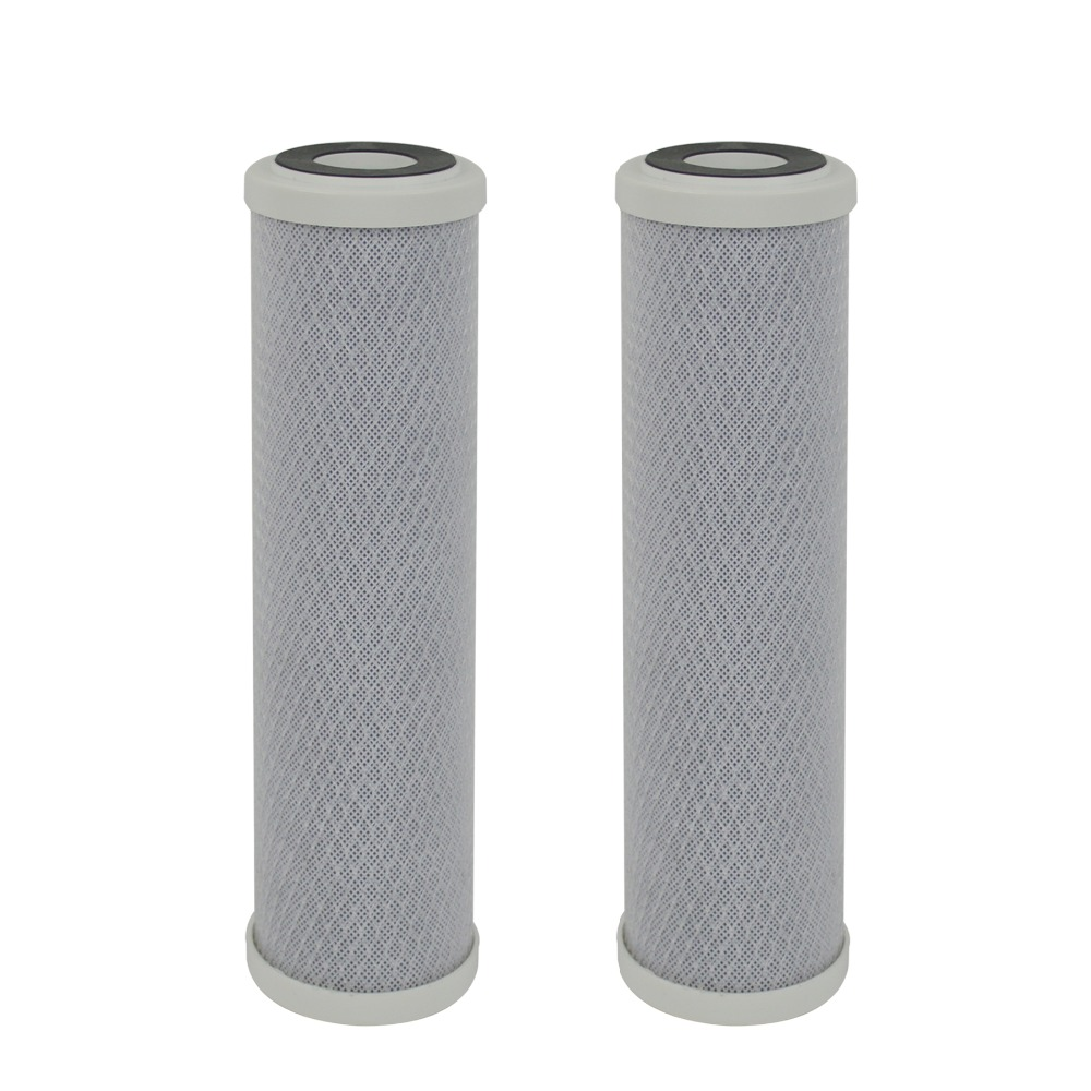 цена на 1 Micron Replacement Filters NSF Carbon Block Filter 2 3/4 OD X 9 7/8 Length for Any Standard UnderSink RO System- PACK OF 2