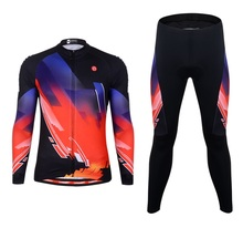LEOBAIKY 2018 breathable Cycling Sets Bike jersey sets long sleeve bike bicycle BTM suit jacket pants Ropa Cycling clothing