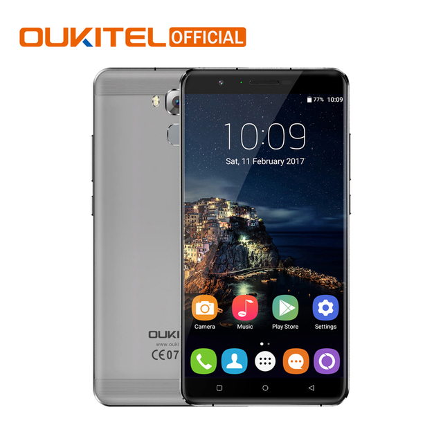 "Oukitel U16 Max Android 7.0 MTK6753 Octa base Smartphone 3G RAM 32G ROM 6.0 ""Téléphone Mobile Empreinte Touch ID 4000 mAh Téléphone Portable"