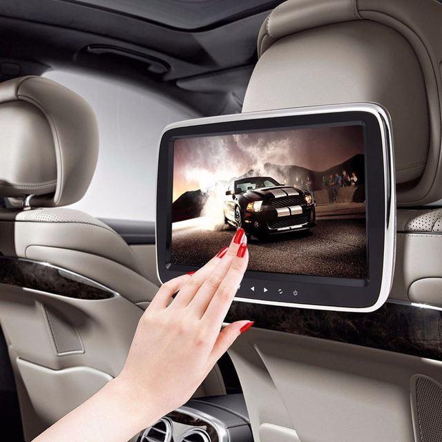 9 Polegada Tela de LCD Digital HD Monitor de Encosto de Cabeça Do Carro Com Tela de 800*480 Suporte a USB SD DVD Player Jogos Controle remoto