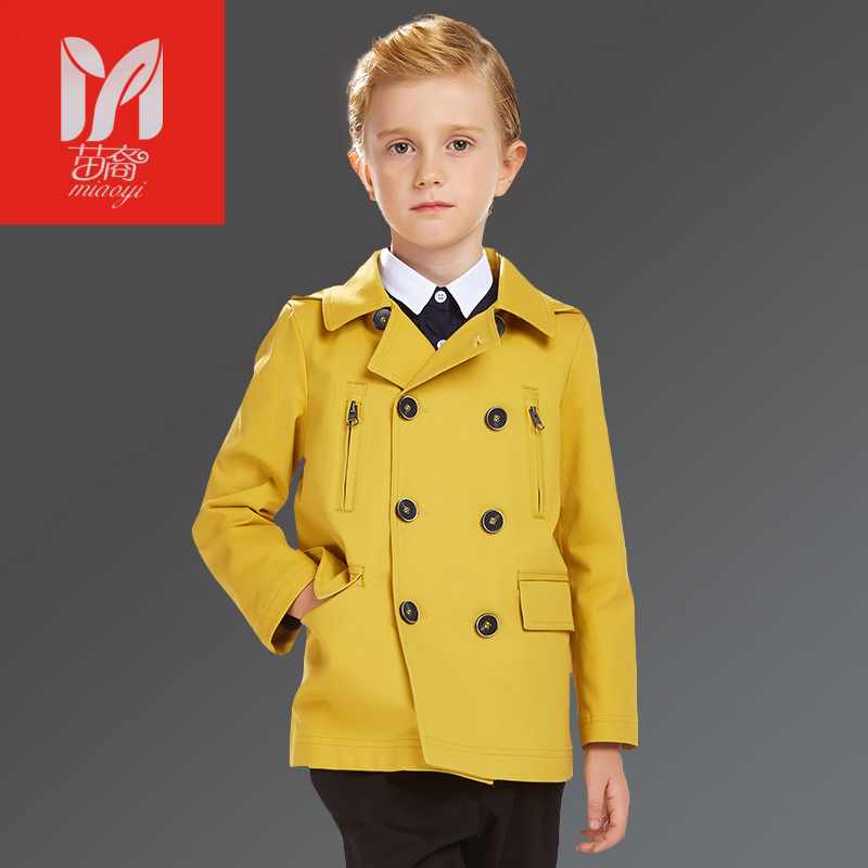 Boy Double breasted Jacket Spring Overcoat Jacket 2017 Spring Fashion Coat for Kids New Good Qualit 2017 MIAO YI fashion new spring