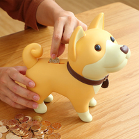 Beauty Flying Pigs Adorable Kid Coin Bank Saving Box Catoon Puppy Dog Money Box Collection Piggy Bank Home Decoration Kids Gift