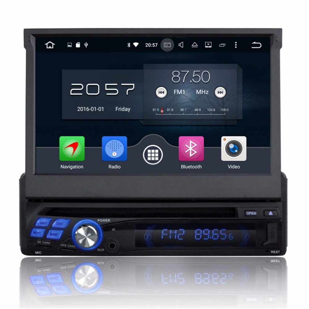 Octa Core 1 din 7 Universal Android 6 0 font b Car b font DVD Player