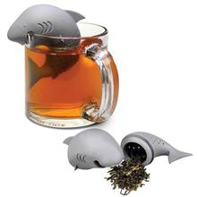 Creative Silicone Tea Infuser Shark shaped Styling Tea Strainer Infuser Teaspoon Filter