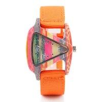 ALK pride rainbow Wooden Watch mens Women Bamboo wood wristwatch 2018 ladies wrist Watches triangle lady female quartz Clock