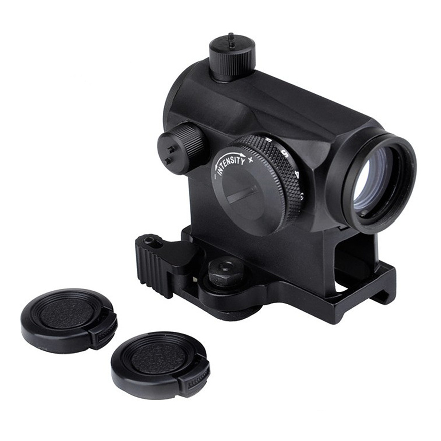 Aim Holographic Red Green Dot Sight With QD Mount Tactical Airsoft Optical RifleScope Hunting Weapon Gun Rifle Scope AO5014 utg 4 2 ita red green cqb dot sight scope tactical with qd mount riser adaptor scp ds3840w hunting equipment