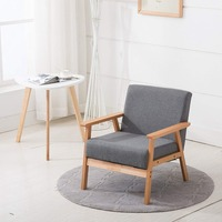 EGGREE Grey Fabric Sofa Chair Scandinavian Designed Lounge Chair Armchairs for Living Room Accent Chair Sofa Recliner