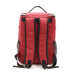 Image 4 - 20L 600D أكسفورد حقيبة للحفاظ على البرودة الحرارية الغداء نزهة صندوق معزول حقيبة ظهر باردة الجليد حزمة الطازجة الناقل حقائب كتف الحرارية