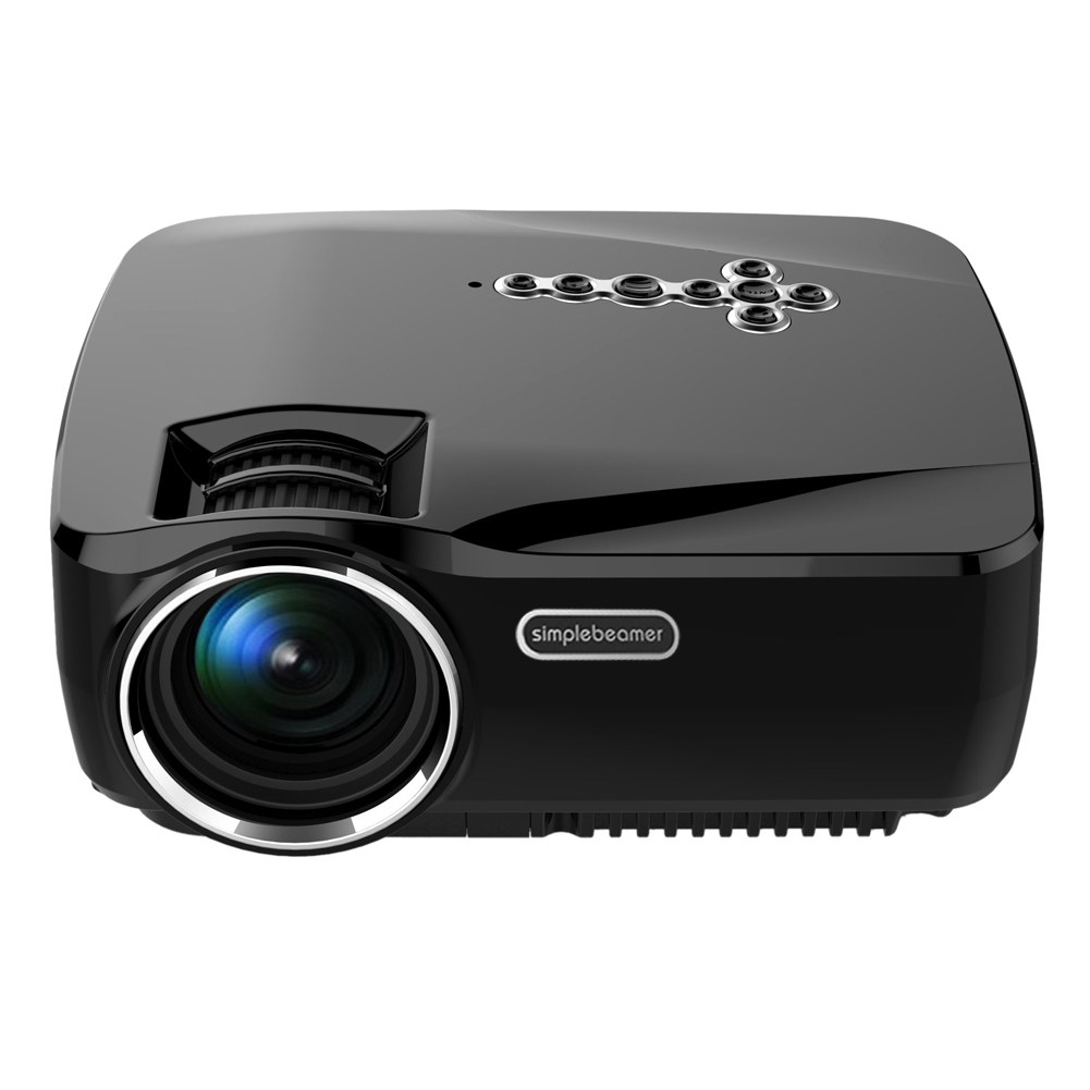 GP70UP 2016 New Style Portable LED Projector 800*480 1200Lumens Home Wireless HD Bluetooth WIFI Android4.4 FW1S