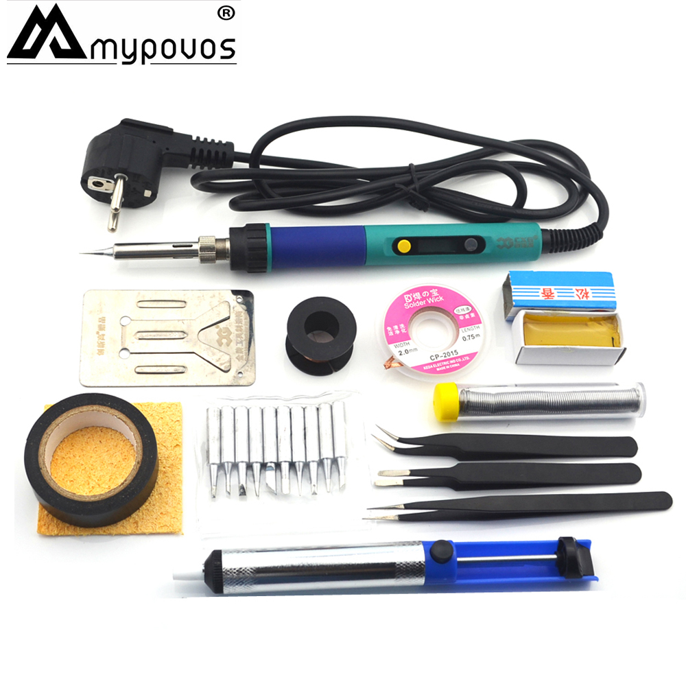 CXG EU 60W Digital <font><b>LCD</b></font> Adjustable Electric soldering iron 936 Soldering iron station kit set Welding repair kit 220V image