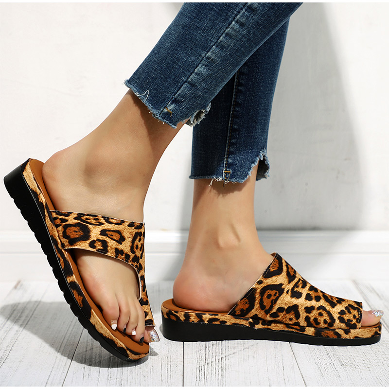 HTB1mevLaBSD3KVjSZFqq6A4bpXas MCCKLE Women Comfy Plain Shoes Flat Platform Ladies Casual Big Toe Foot Correction Sandals Orthopedic Bunion Corrector Flip Flop