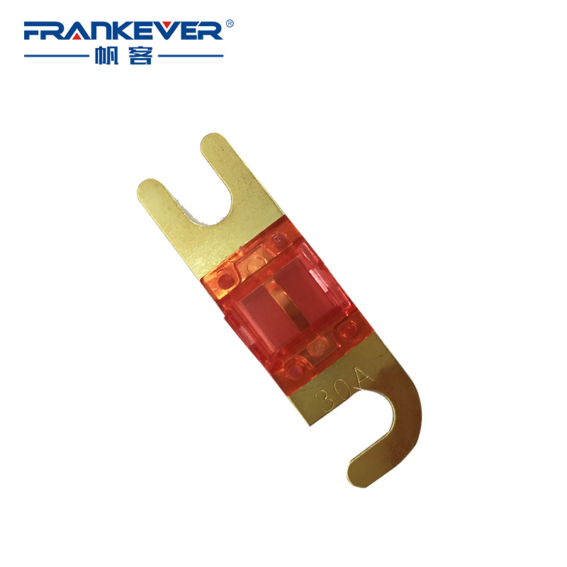 Top Quality Hot Selling 5pcs/lot Gold Plated 30 A Car Audio AFS Mini ANL Fuse Auto Stud Fuses Free shipping