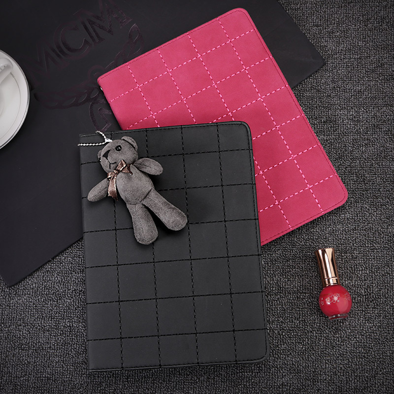 For Apple i Pad 2 3 4 Magnetic Auto Wake Up Sleep Flip Litchi Leather Case For i Pad Air 2 mini 4 Cover with Smart Stand Holder