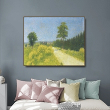 Country Road by Cezanne Canvas Painting Calligraphy Poster Prints Living Room House Wall Art Home Decoration Picture