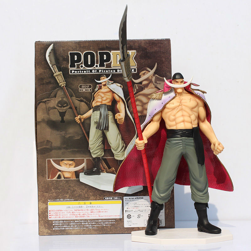 One Piece Edward Newgate PVC Action Figures Toy 35cm Anime Free Shipping