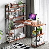 Компьютерный стол, стол для ноутбука, современный простой стол для учебы, подставка для различных предметов, подставка для книг, деревянный