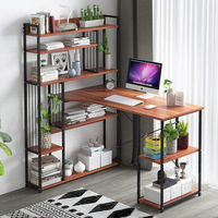 Computer Desk Notebook Table Modern Simple Study Desk Sundries Rack Book Stand Wooden Laptop Table for Home Office Furniture