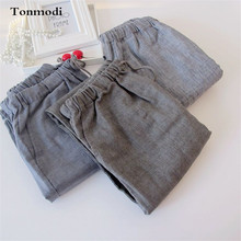 Long Pants For Men Spring And Summer Double Gauze Cotton Sle