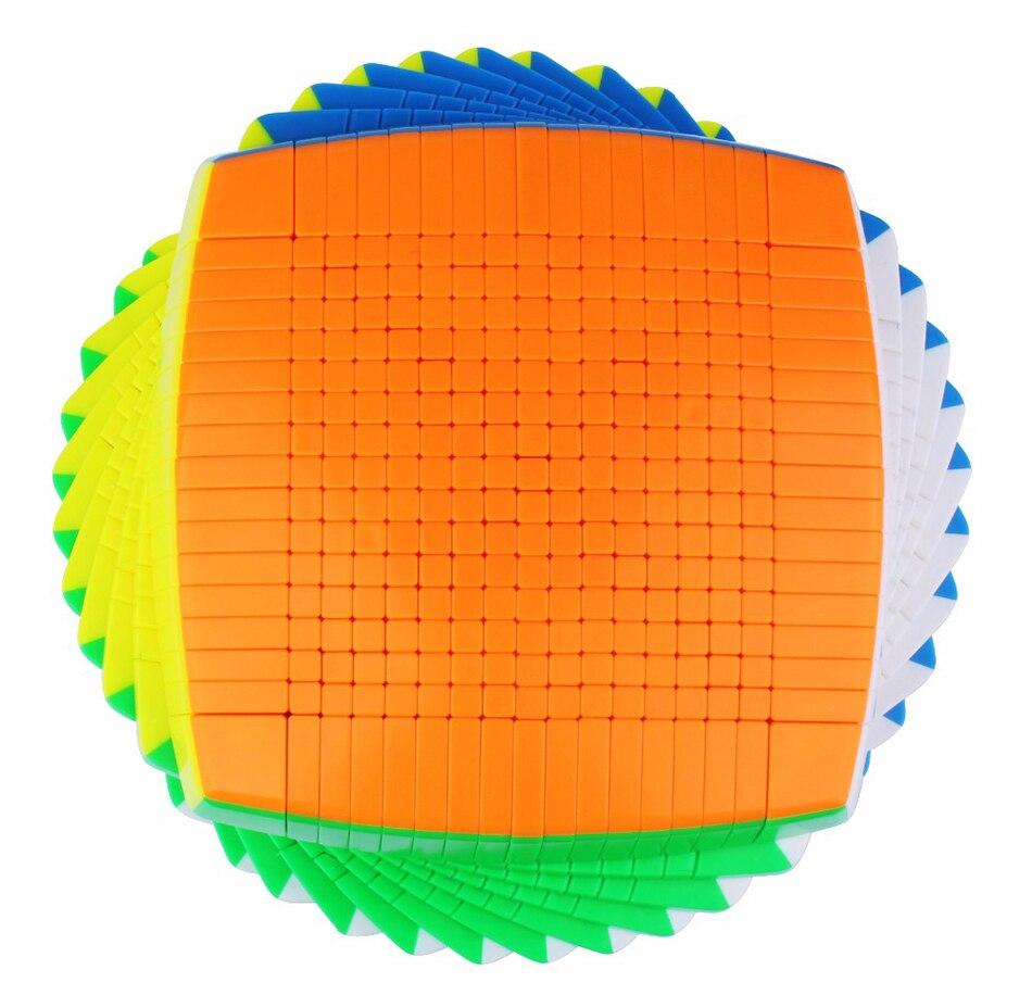 Yuxin Huanglong 17x17 sans autocollant Zhisheng vitesse Cube Puzzle torsion 17x17 Cubo Magico apprentissage éducation jouets magique livraison directe