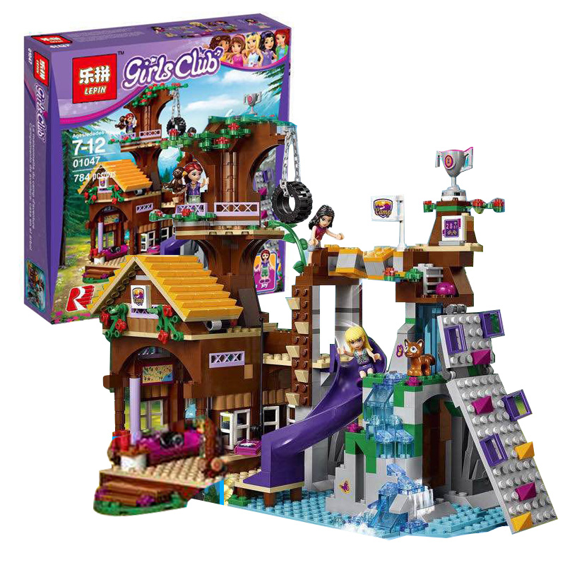Lepin 01047 Girls Friends Series Adventure Camp Tree House Building Blocks Bricks Compatible LegoINGlys 41122 Children Toy Gifts [hot] 875pcs legoings adventure camp tree house model building blocks gifts toy compatible legoingly friends toys for children