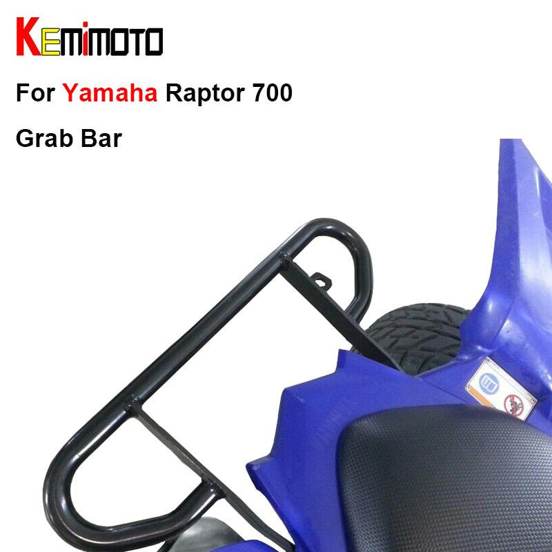 KEMiMOTO For Yamaha Raptor 700 ATV Wide Grab Bar Rear handle Grab Motorcycle Goods shelf Storage rack all years 2006 2007 2008 kemimoto for yamaha raptor 700 billet aluminum atv front lowering kit and rear lowering kit silver