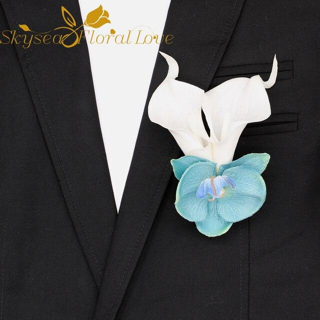 Artificial flower calla heads diy corsagebrooch decoration wedding artificial flower calla heads diy corsagebrooch decoration wedding silk flower boutonniere party cloth brooch mightylinksfo