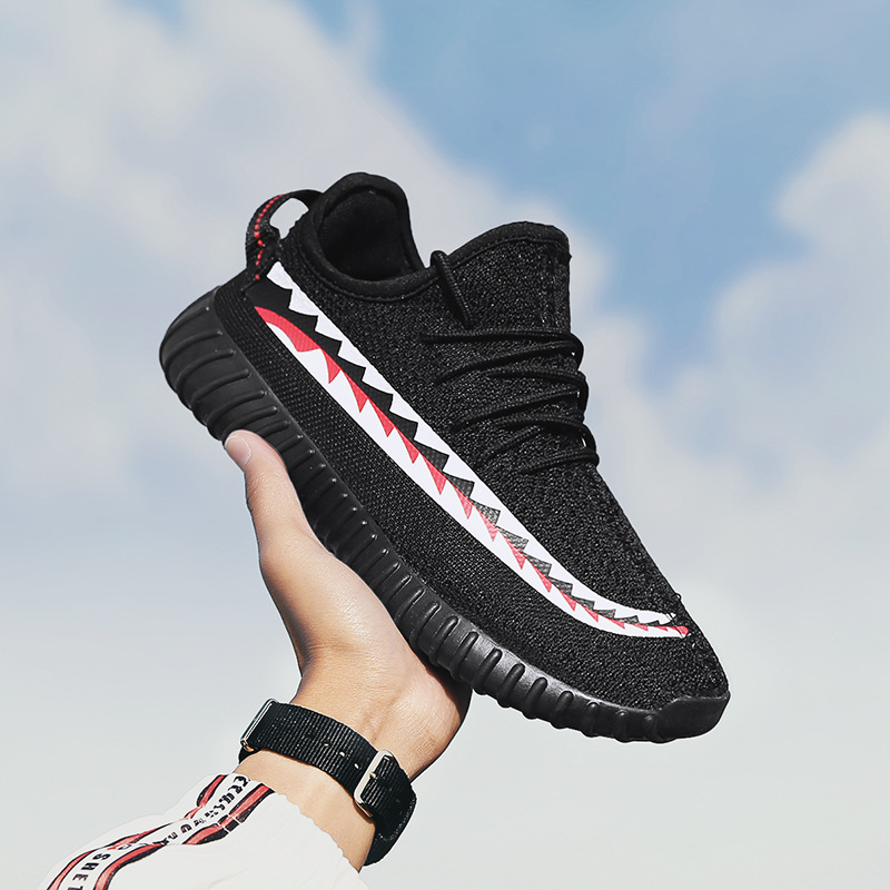 Max Sosa 2018 Summer kanye 350v2 Coconut Shark Breathtaking Running Shoes Men Black Sports Flying Breathable Shoes Running Men