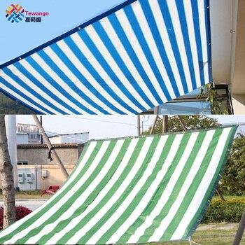 Tewango 90% тени ставка 135 г/м² d-кольцо 1 м пространство HDPE сетка открытый тени паруса патио крышка садовая сетка анти-УФ солнцезащитный крем