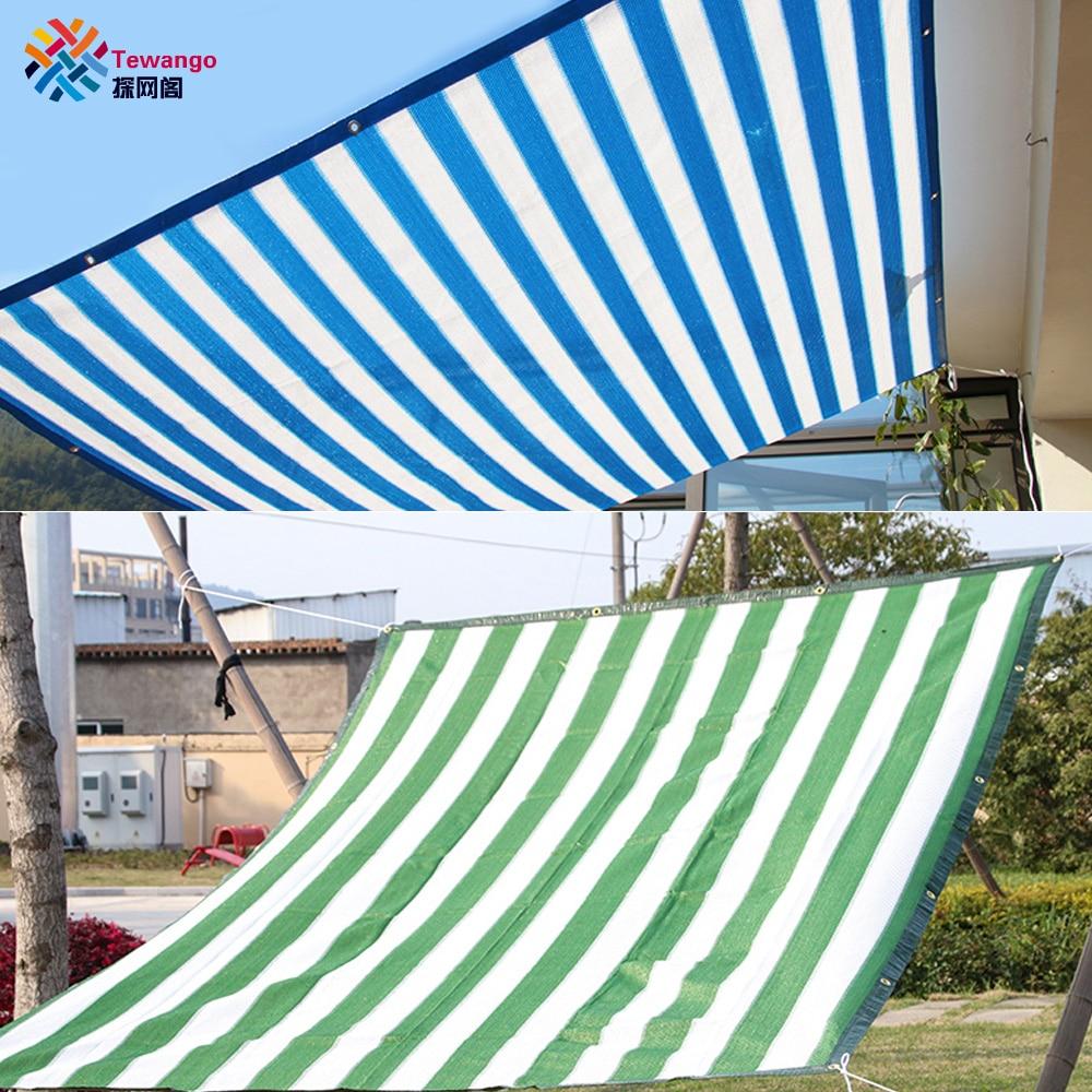 Tewanguo 90% Tasa de sombra 135g/sqm d-ring 1m espacio HDPE malla sombra exterior velas Patio cubierta jardín red Anti-UV protección solar Tewango 50 Uds 10 Uds Clip de red de sombrilla herramientas de jardín broches de tela de sombra de invernadero Clips de malla de cerco instantáneo de plástico