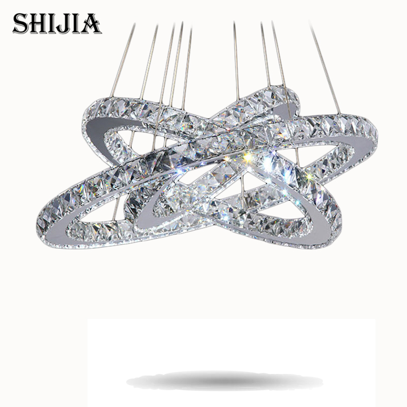 Hot sale Diamond Ring LED Crystal Chandelier Light Modern LED Lighting Circles Lamp 100% Guarantee Fast and Free Shipping hot sale diamond ring led crystal chandelier light modern pendant lamp 100
