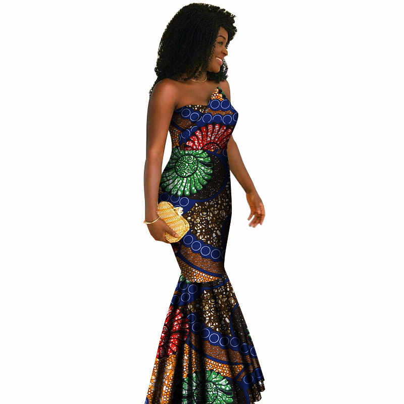 21be084bad07a Summer Maxi Mermaid Dresses 2019 New Style Strapless African Dresses for  Women Vestidos Sexy Party Womens