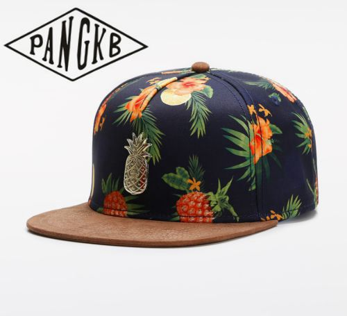 PANGKB Brand FRUITY SUMMER   CAP   Suede brim pineapple hip hop snapback hat men women adult outdoor casual sun   baseball     cap