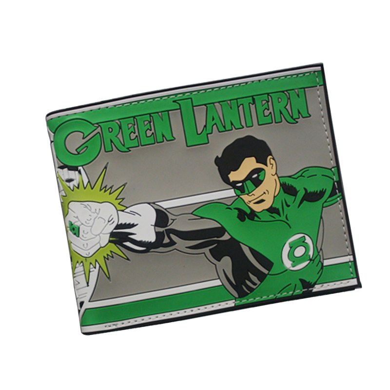 Green Lantern Wallet Avengers Superhero Comics DC Wallets 3D Printing Cartoon Purse Mens PVC Money Bag Clip Card Holder Walet одеяла daily by togas одеяло облегченное