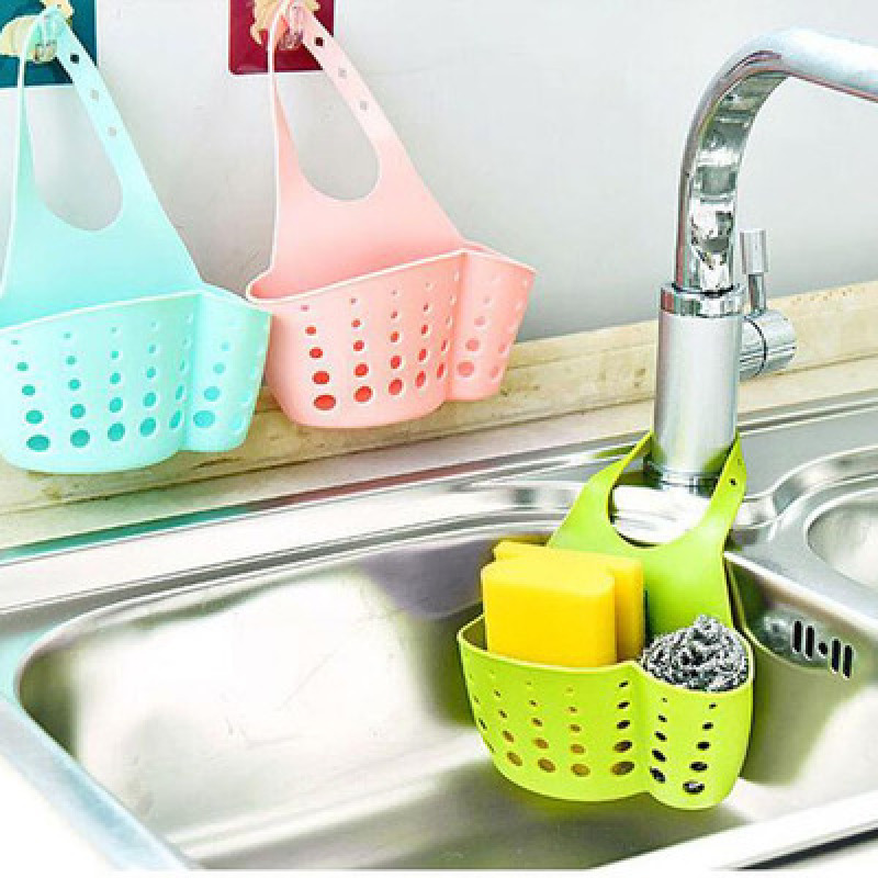 Sink Drain Basket Kitchen Sink Sponge Holder Draining Rack Sink Kitchen Hanging Drain Storage Tool Storage Shelf Hanging Storage