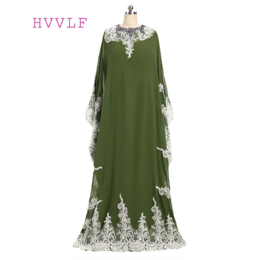898b94dae92149 ⓪2019 Musulman Robes De Soirée A-ligne Manches Longues Mousseline ...
