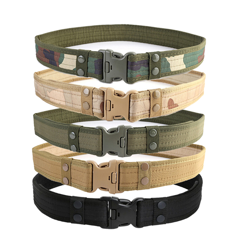 Outdoor Army Military Tactical Belt Men Safety Nylon Male Combat Waistband UDD
