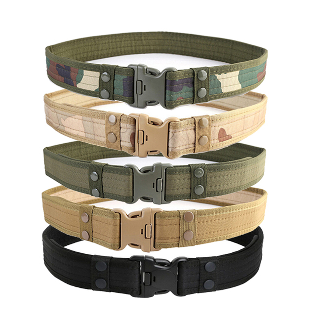 2 Inch Airsoft Military Tactical Belt Unisex Durable Canvas Material Hunting Outdoor Utility Adjustable Waistband 72cm-113cm