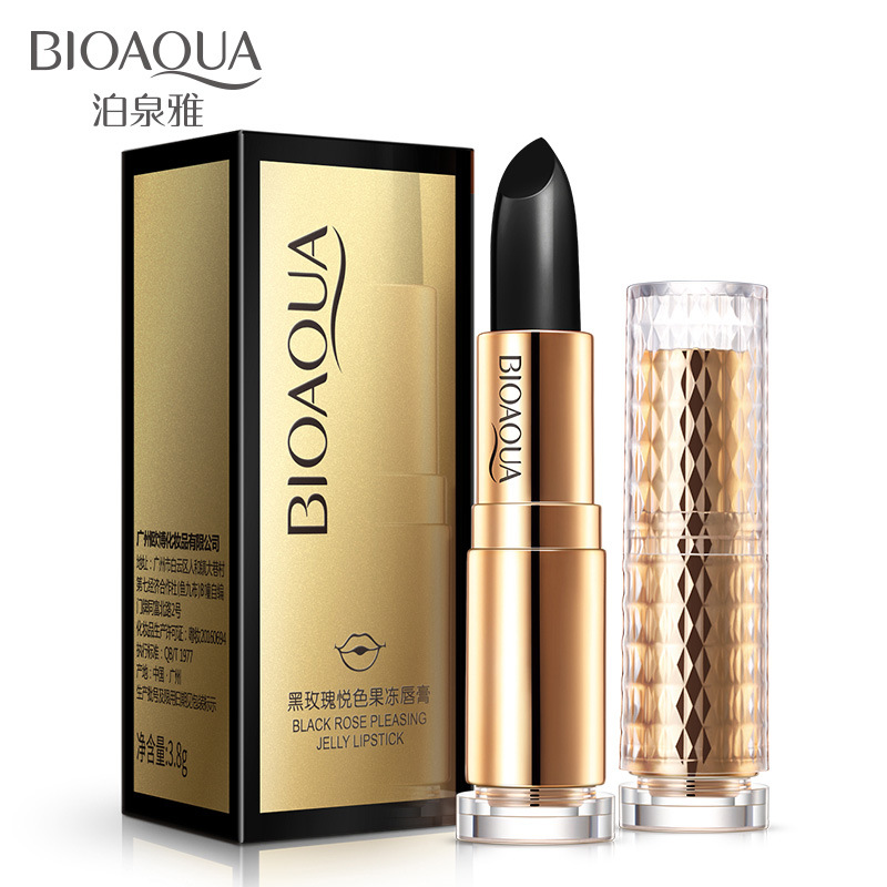 BIOAQUA Black Rose Lip Balm Sexy Red Lip Natural Plant Extract Moisturizing Refine Repair Lip Wrinkles