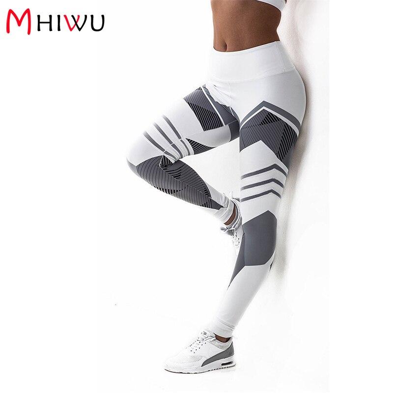 MHIWU 2018 3D print High waist legging women workout fitness leggings Push Up jeggings women slim sexy Pants legins femme WLS12