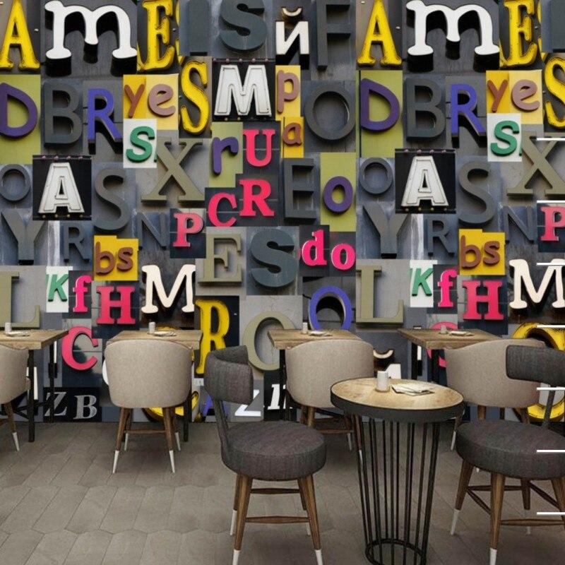 Dropship Colomac Nordic tapeta drewno europejskie angielskie litery Fototapeta Fototapeta 3d tapeta salon Fototapeta nowocasna